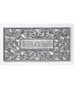 Aluminum Oak Leaf Welcome Mat
