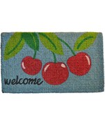 Welcome Cherry Mat by Imports Decor