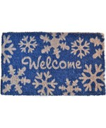 Welcome Coir Doormat - Snowflakes