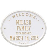 Welcome Family Established Plaque
