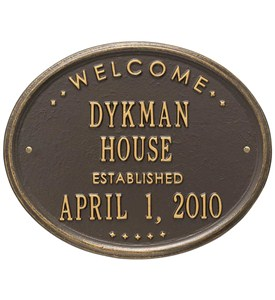 Welcome House Established Plaque Image