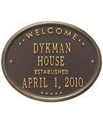 Welcome House Established Plaque