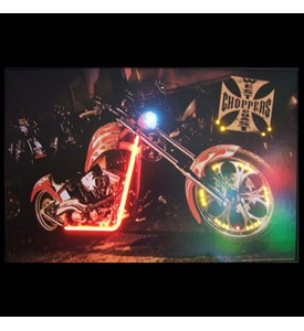 West Coast Choppers Bike Neon/LED Picture - by Neonetics - 3WESTC Image
