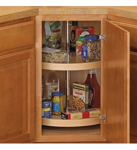 18 Inch Cabinet Lazy Susan - Wood - Full-Round Image