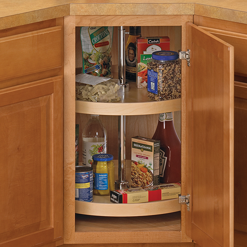 24 Inch Cabinet Lazy Susan Wood Full Round Image