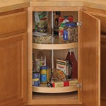 24 Inch Cabinet Lazy Susan - Wood - Full-Round