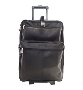 Leather 22 Inch Wheeled Carry-On Suitcase Image