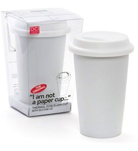 White Ceramic Travel Mug Image
