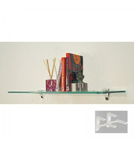 White Entryway Wall Shelf - 10 Inch Deep Image
