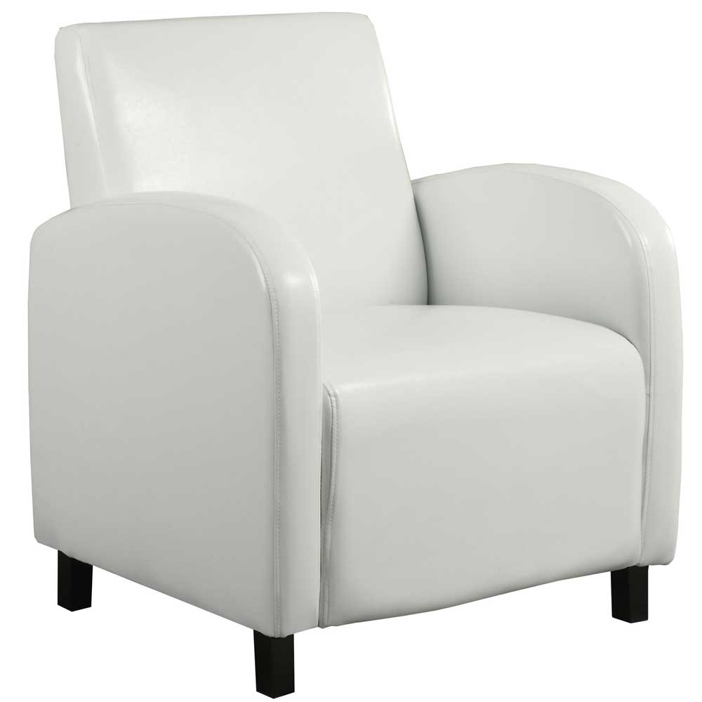 Leather Accent Chair White In Leather Chairs