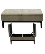 White Microfiber Rectangular Storage Bench by O.R.E.