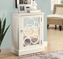 White / Mirror Contemporary Bombay Chest by Monarch Specialties