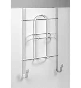 White Over the Door Iron Holder Image