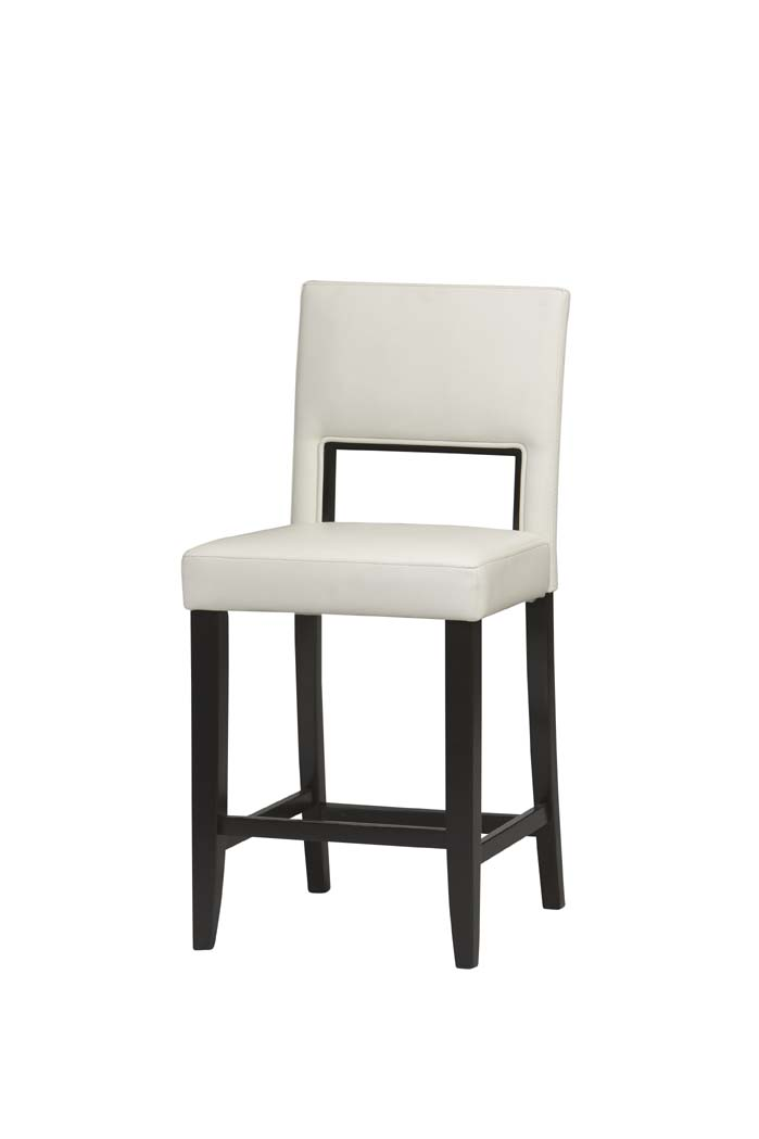 White Vega Bar Stool By Linon Home Decor In Wood Bar Stools