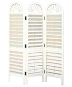White Venetian Divider Screen