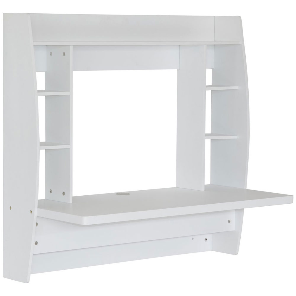 Wall mounted desk photos gallery of for corner for Desk hutch organizer ikea