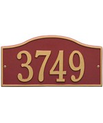 Whitehall Rolling Hills Address Plaque