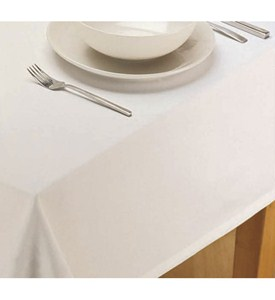 Cotton Tablecloth - White Image
