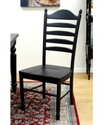 Wood Dining Chair - Black
