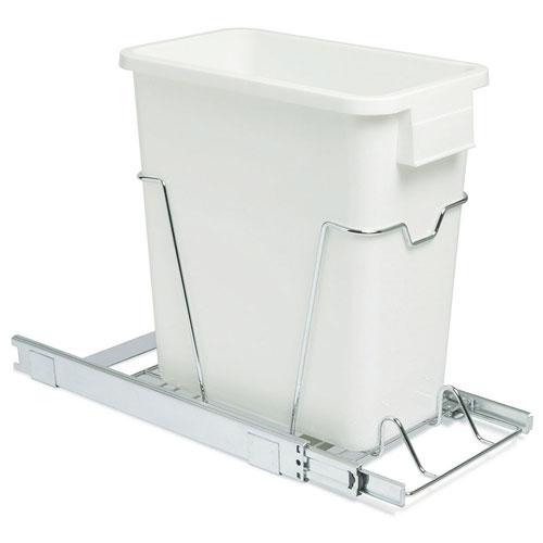Sliding Cabinet Trash Can 20 Quart In Cabinet Trash Cans