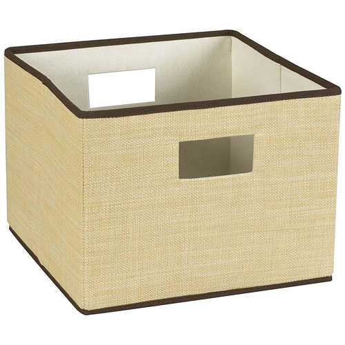 Collapsible Resin Wicker Storage Basket Image