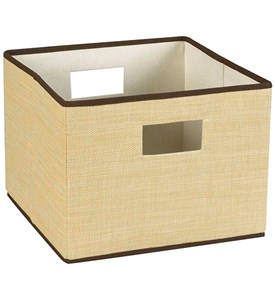 Collapsible Resin Wicker Storage Basket Image