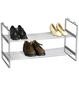 Chrome Stacking Shoe Rack Image