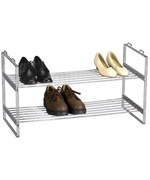 Chrome Stacking Shoe Rack