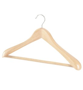 Natural Wood Deluxe Suit Hanger Image
