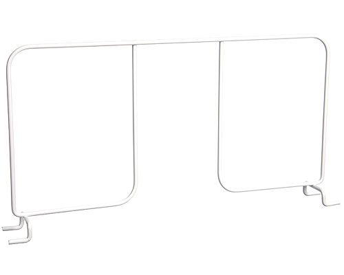 FreedomRail 16 Inch Wire Shelf Divider - White Image