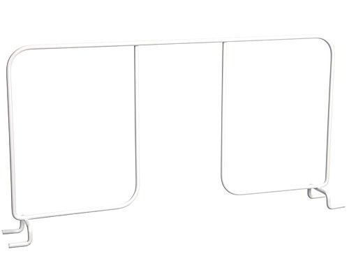 freedomrail 16 inch wire shelf divider white