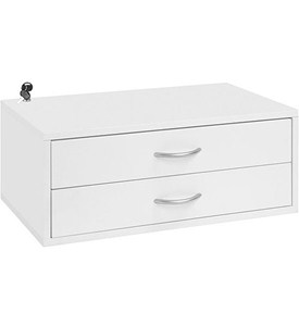 Double Hang Two-Drawer O-Box - White Image