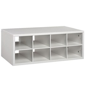 Double Hang O-Box Cubby Unit - White Image