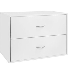 freedomRail Two-Drawer Big O-Box - White Image