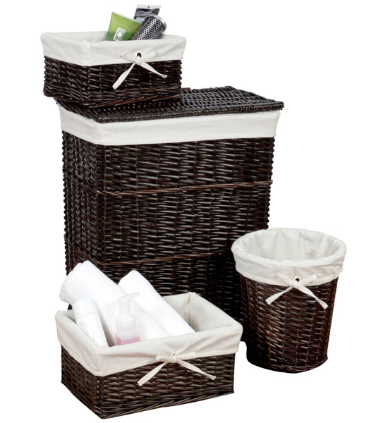 Wicker Basket Set   Walnut (Set Of 4) Image