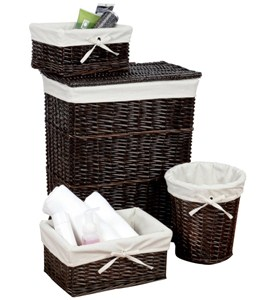 Wicker Basket Set - Walnut (Set of 4) Image