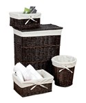 Wicker Basket Set - Walnut