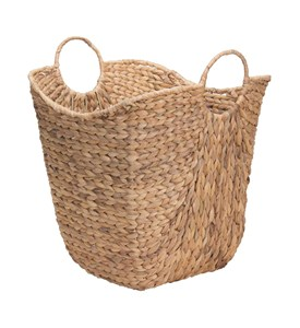 Wicker Basket with Handles - Water Hyacinth Image