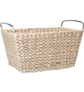 Wicker Basket with Handles Image