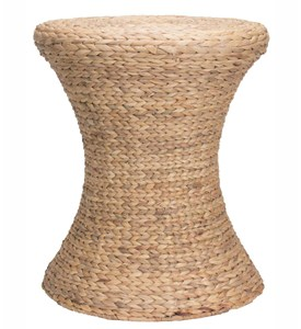 Wicker End Table - Water Hyacinth Image