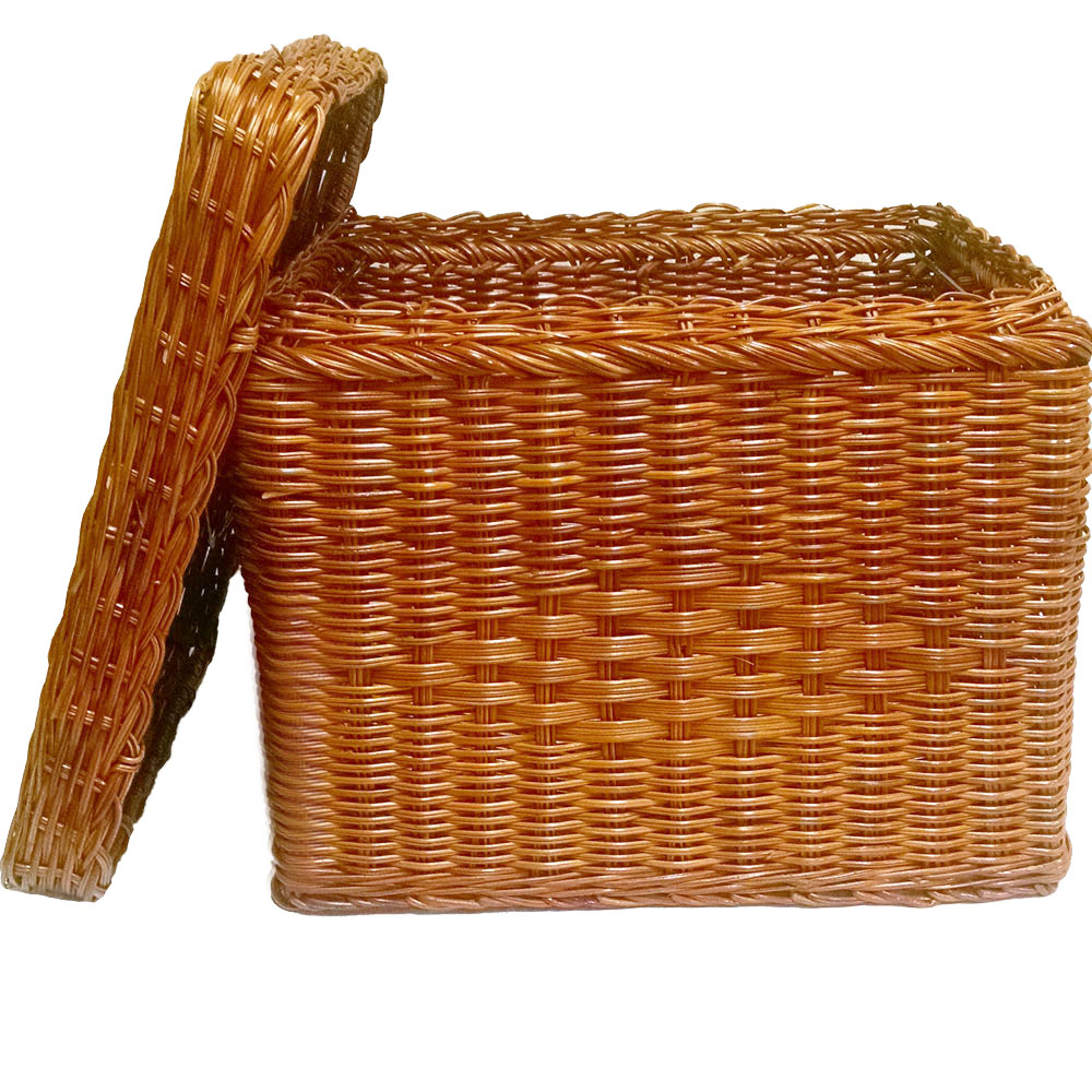 wicker hanging file basket image - Hanging File Box