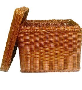 Wicker Hanging File Basket Image