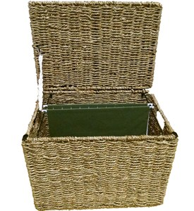 Wicker File Storage Box Image