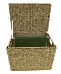 Wicker File Storage Box