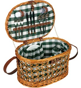 Wicker Picnic Basket Set - Service for Four Image