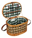 Wicker Picnic Basket Set - Service for Four