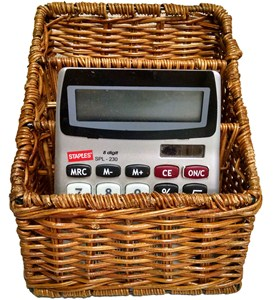 Wicker Remote Control Caddy Image