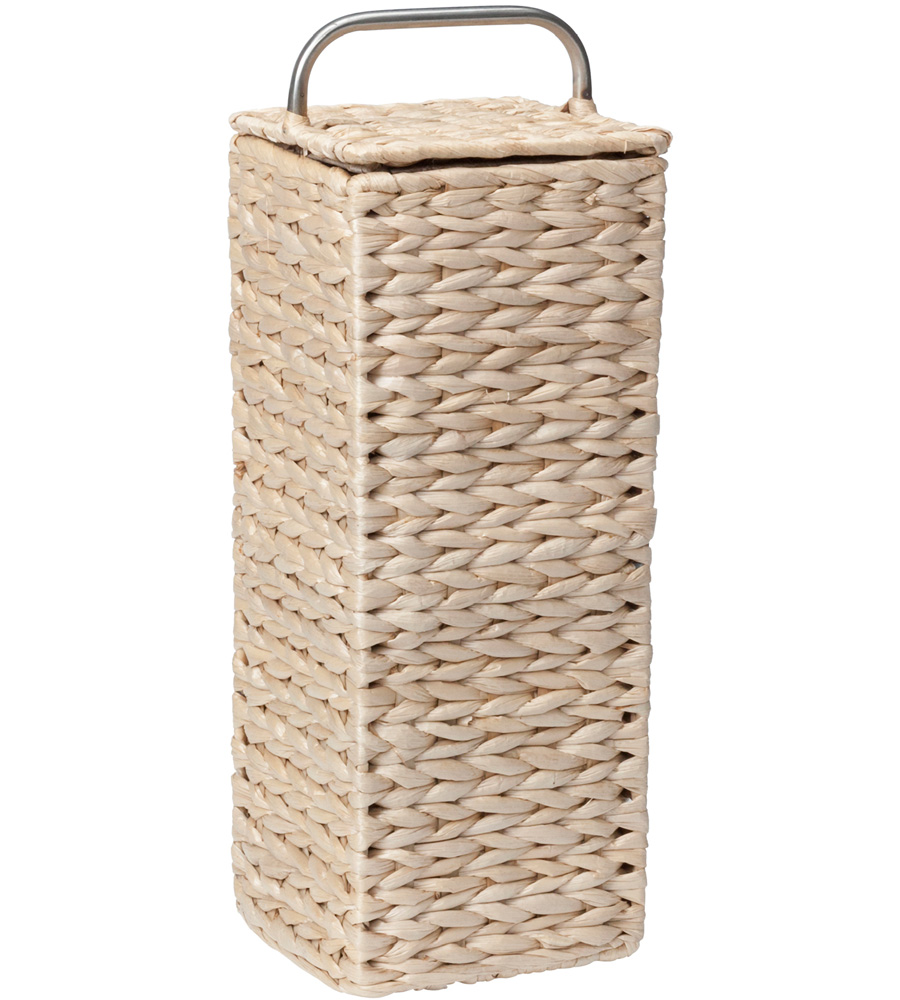 Wicker toilet paper holder in toilet paper storage for Loo roll storage