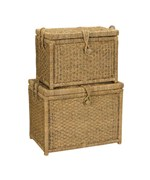 Woven Seagrass Storage Chest