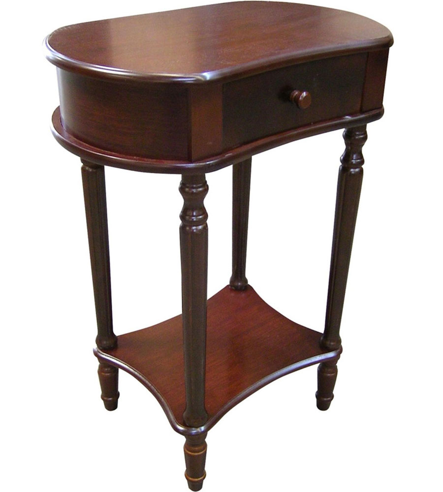 wide side table cherry 29 inch by o r e in side tables
